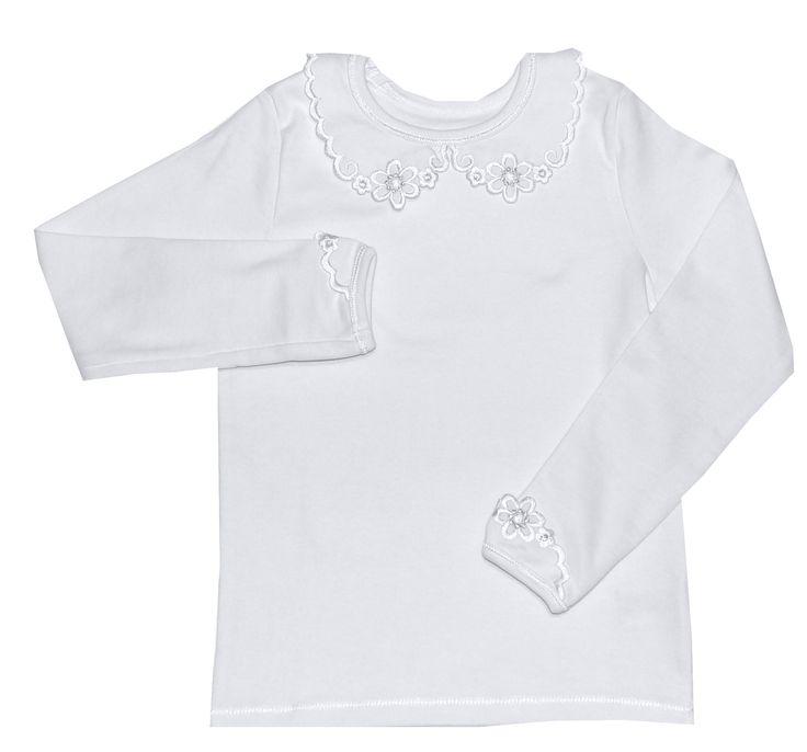 Bluzka BIAŁA zdobiona-   dziewczynka
