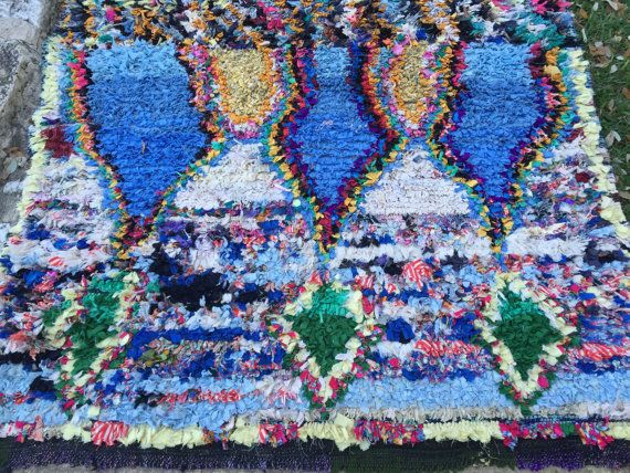 CRYSTAL PALACE- Vintage Moroccan Boucherouite rug