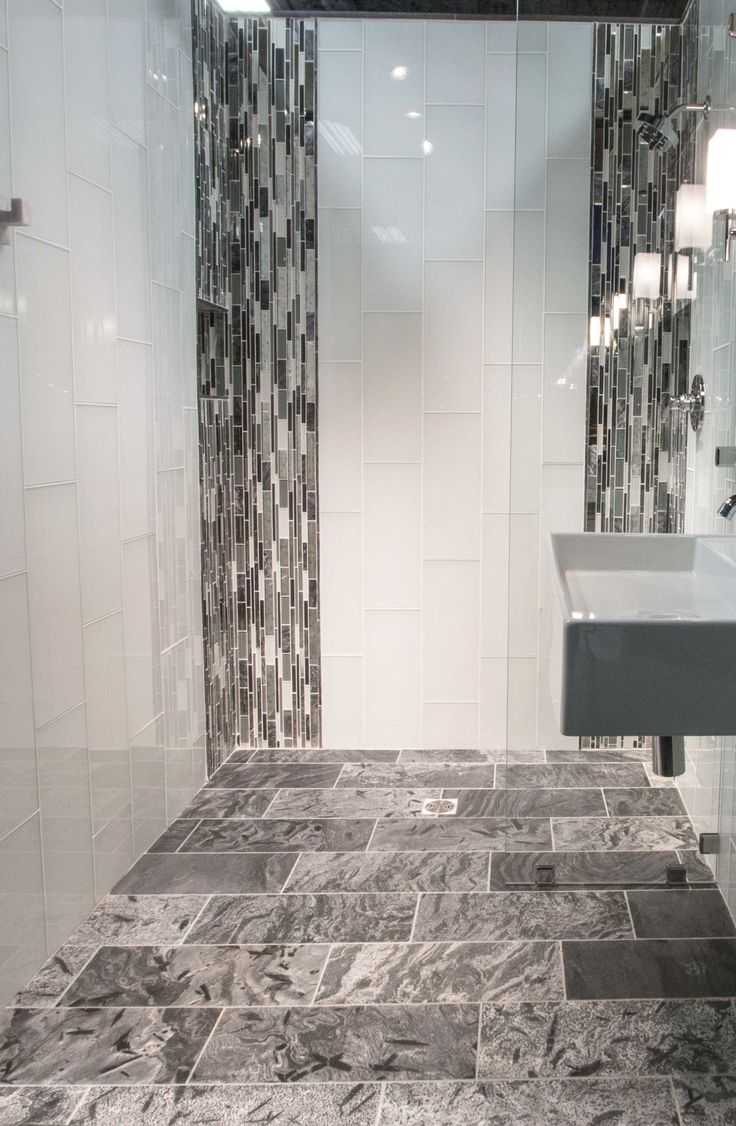 Cool And Contemporary Bathroom Floor Tile   Silver Grey Polished Quartzite  Wall Tile Https:/