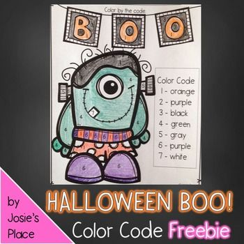 HALLOWEEN FREEBIE!Please enjoy this adorable color by number freebie.  Feel free to stop by my store for more of these types of freebies and check out some Halloween activities such as Octoberfest for Kids!Have a happy Halloween! Show a little FEEDBACK LOVE- it inspires me to create more of these FREEBIES!