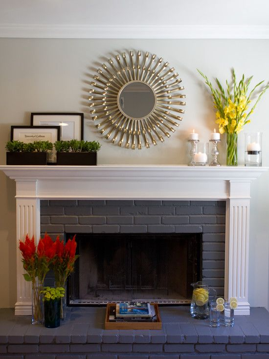 Painted Brick Fireplace Design Pictures Remodel Decor And Ideas Page 5 Ideas Pinterest