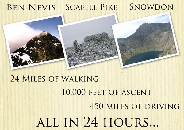 My goal, the 3 peaks challenge.