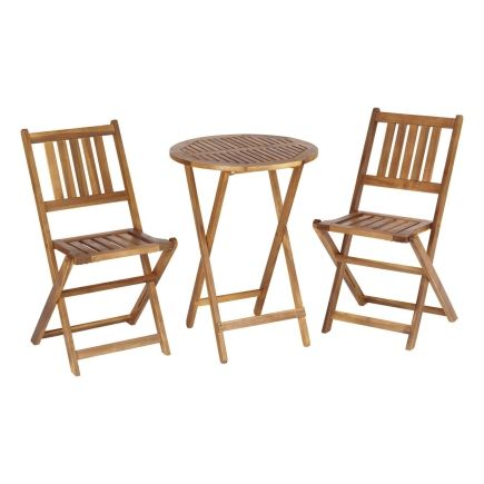 Living Accents 3 Piece Wood Bistro Set   Ace Hardware. Patio Furniture ...