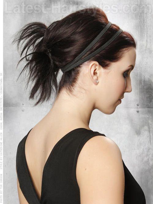 http://www.latest-hairstyles.com/medium/fine.html Easy Updo with Headband Side