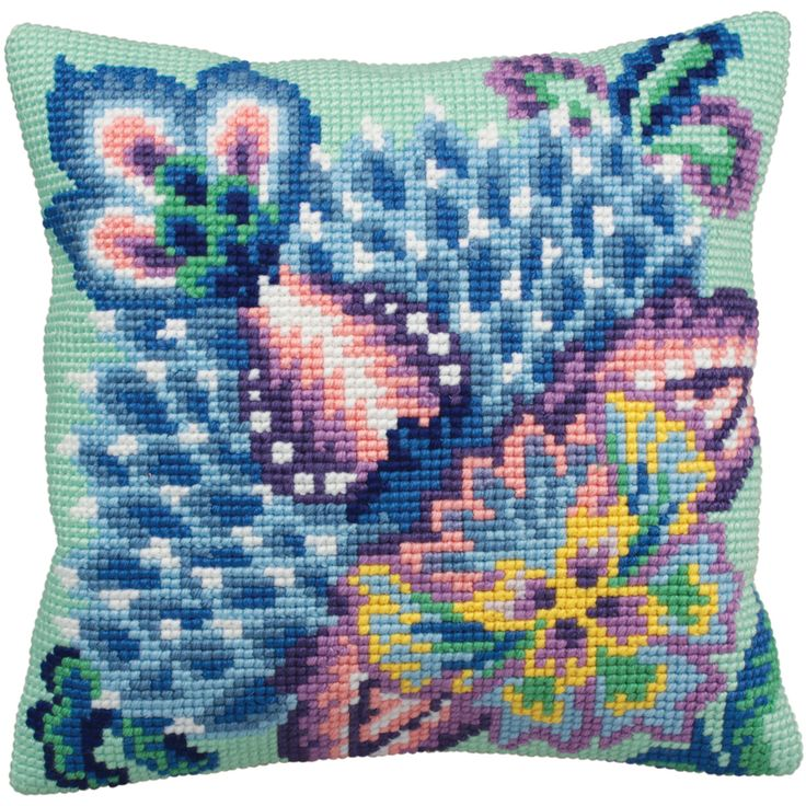 Stitch up a beautiful decorative throw pillow with this cool kit. This kit will help you make a pillow that will look amazing in your home.