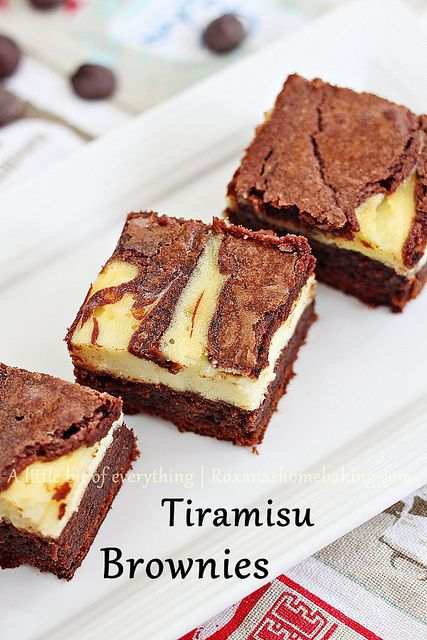Tiramisu Brownies from @RoxanaGreenGirl {A little bit of everything}