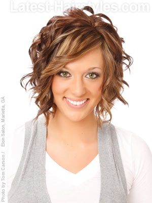Light Brown Hair With Highlights | Blonde highlights / Golden highlights on light brown hair / Cute short haircut