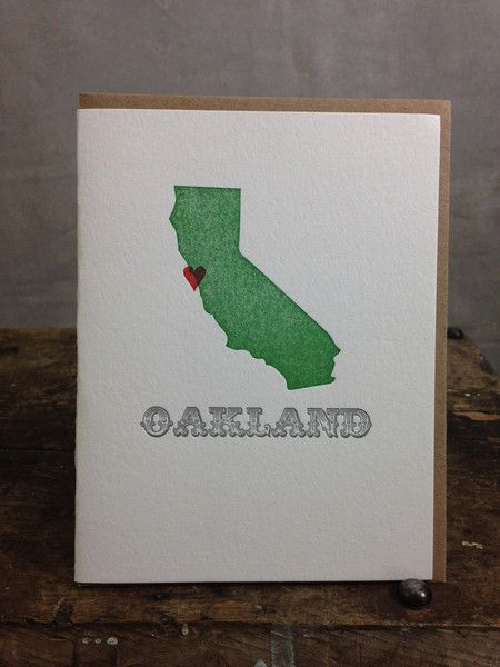 Spread the love with this letterpress card.  Made in Portland by Lettuce Press.
