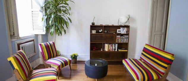 Uma sala para encontros e boas conversas.