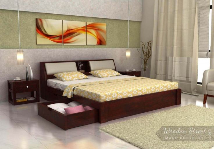 A very comfortable #WalkenBed King size bed perfect to lounge while you listen to your favorite music or work on your laptop. Available with storage and made from high quality Sheesham Wood. #Solidwoodfurniture #bed #kingsizebed #bedroom #bedroomfurniture #homefurniture #homedecor #homestyling #furnitureinindia 🇮🇳️ See it yourself once: https://goo.gl/5EMw3G