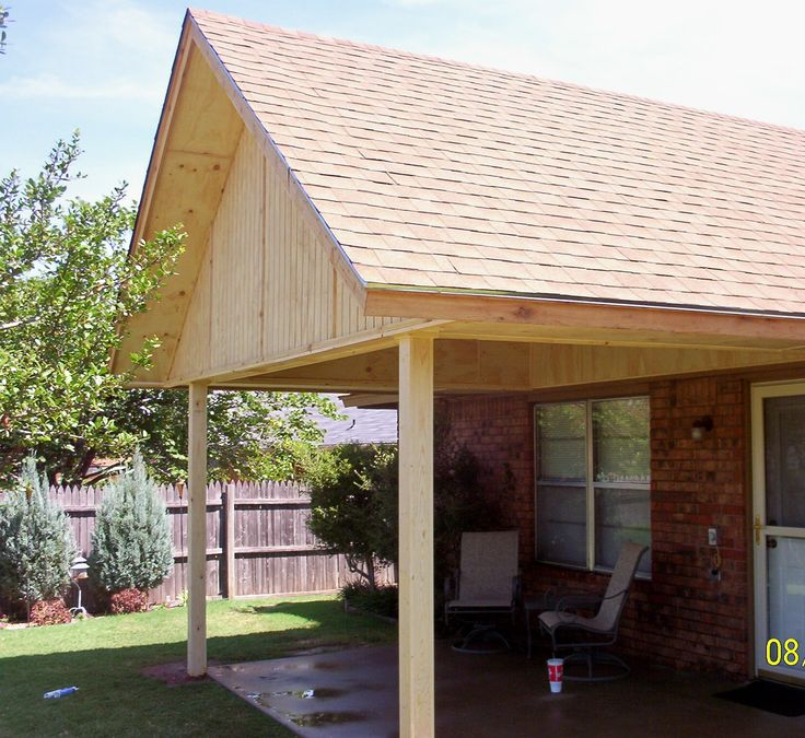 36 best back yard privacy images on pinterest for Gable patio designs