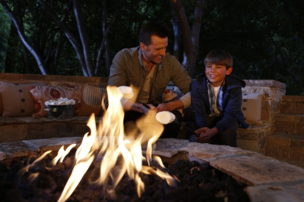 Light up the summer night by the fire pit while roasting marshmallows.