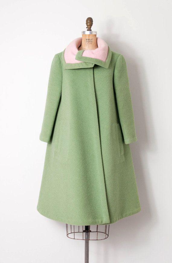 vintage 1950s coat / Pauline Trigere 50s trapeze by SwaneeGRACE