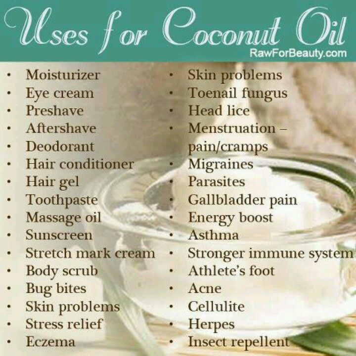 Uses for Coconut Oil-Bug repellant, Acne, Bug bites...