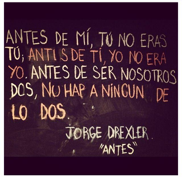 Antes #jorgedrexler