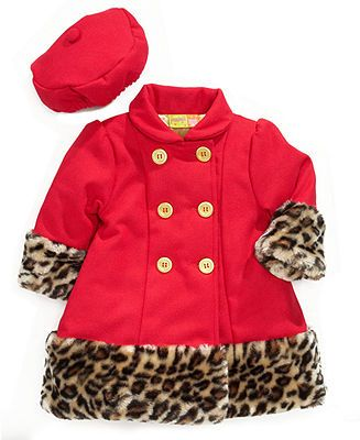 Penelope Mack Baby Coat, Baby Girls Hat and Faux-Fur Jacket - Kids Baby Girl (0-24 months) - Macy's