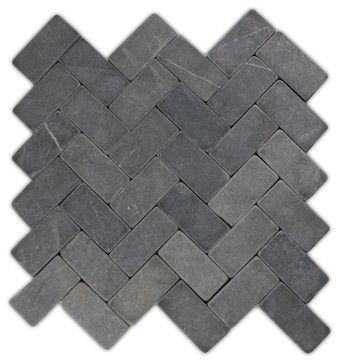 http://www.houzz.com/photos/17469162/Grey-Herringbone-Stone-Mosaic-Tile-traditional-mosaic-tile