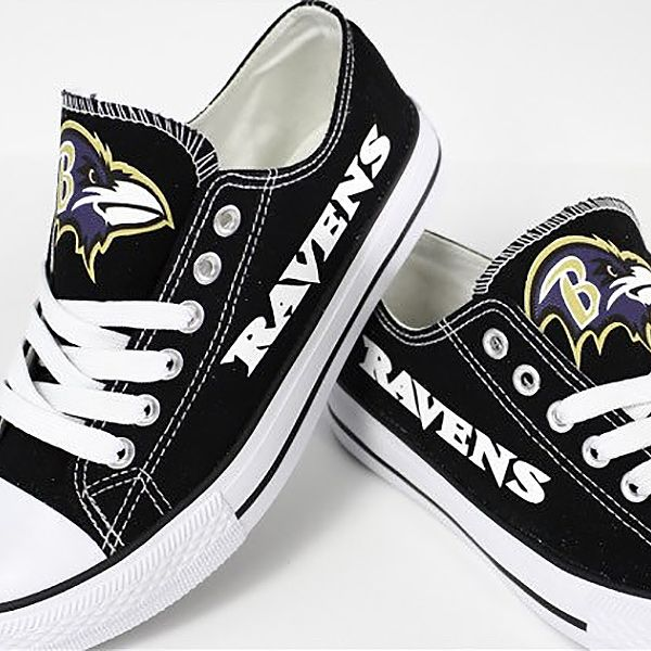 Baltimore Ravens Converse Style Shoes - http://cutesportsfan.com/baltimore-ravens-designed-sneakers/