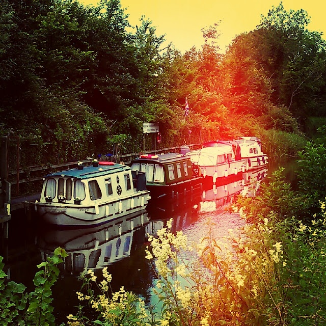 Canal boats- temporarily live in a canal boat/narrow boat