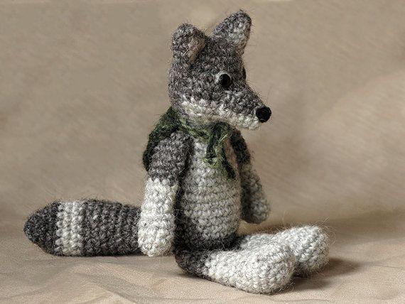 Amigurumi crochet wolf pattern by SonsPopkes on Etsy
