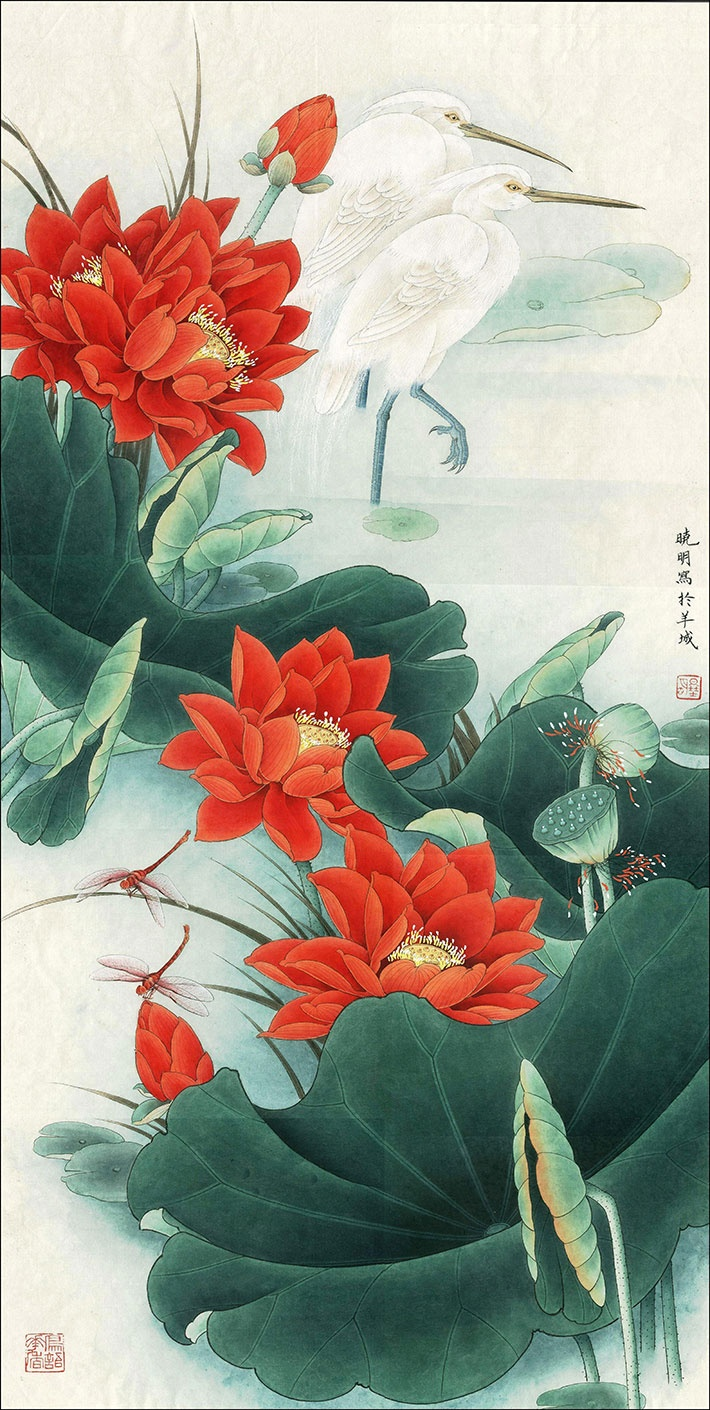 """This is an 39""""x11""""(100cm×27cm) giclee print on fine rice paper, reproduced from an original chinese painting. The inks and paper are archival quality to ensure lasting beauty. The print will be packaged inside a cellophane envelope with mount board, reinforced corners and then wrapped well enough to ensure your new piece of art arrives safely and in peak condition :)Please get in touch if you would be interested in a different size of the same print, or other paintins you don't see in the…"""