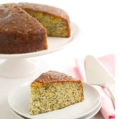 Glazed Orange Poppy Seed Cake    This cake is very easy to make and will be enjoyed by all.