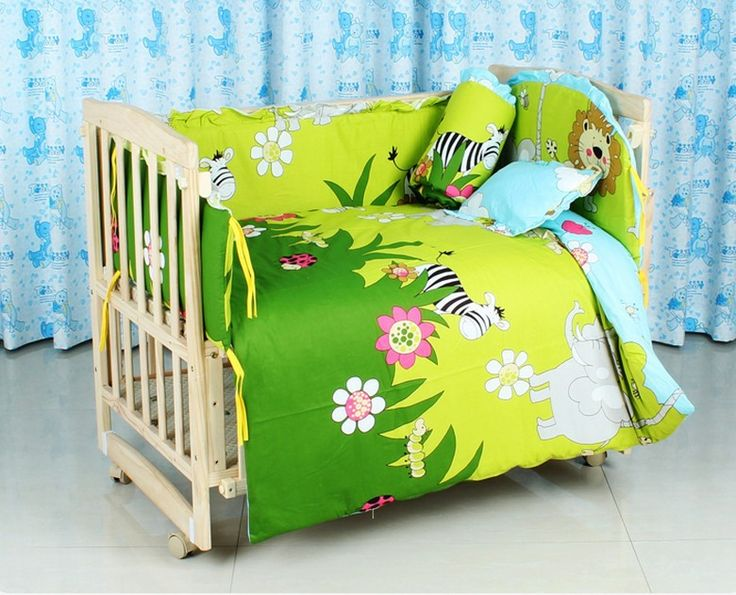 Promotion! 10PCS crib bedding sets for kids,cribs for Forest Kingdom print bedding sets,(bumper+matress+pillow+duvet)