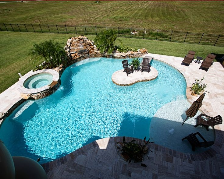 17 best images about swimming pools on pinterest black for Pool design with tanning ledge