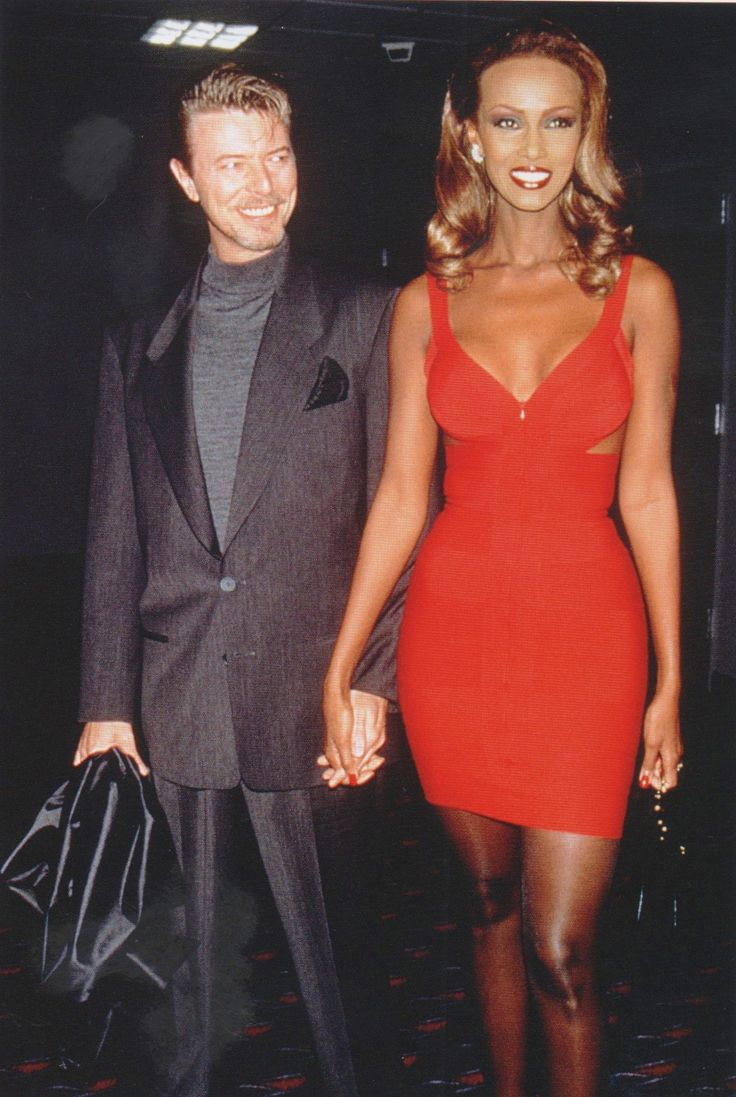 "David Bowie and Iman... you can almost hear him thinking, ""Isn't  she  a radiant woman, and how did I get so lucky?"""