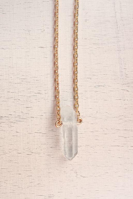Halsband med rå bergskristall | Foxboheme