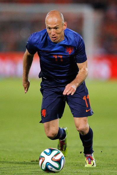 Arjen Robben of Netherlands in action during the International Friendly match between #Netherlands and #Ghana at De Kuip on May 31, 2014 in Rotterdam, Netherlands.