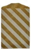 White/ Kraft Striped Mini Paper Bag (2 3/4 x 4 Inch) 25/Pk: Party Favors, Striped Mini, Paper Bags, Kraft Striped