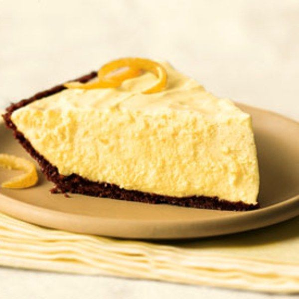 Chiffon Pie, with its light, billowy filling, can't help but bring to mind the sheer, silky fabric it's named for.                  Soft, mousse-like lemon filling; crunchy, gingery crust — a super combo.