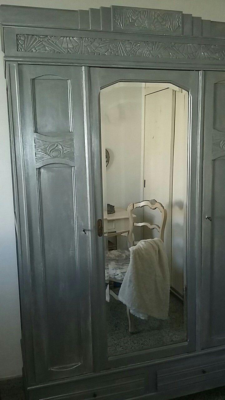 Armoire Art Déco - Restauration Shabby par Nathalie Moulin - Perpignan France