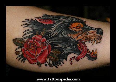 old school wolf tattoos 446 313 tattoos pinterest wolf tattoos tattoo and tatt. Black Bedroom Furniture Sets. Home Design Ideas
