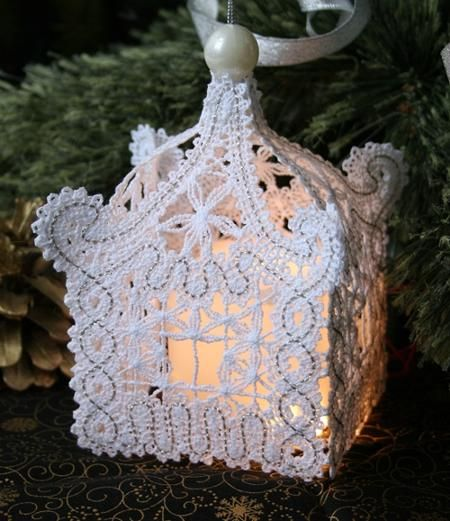 Advanced Embroidery Designs - FSL Battenberg Lace Pagoda Ornament