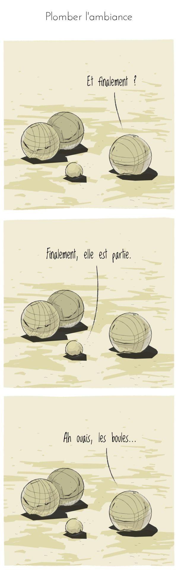 Texte : keses Dessin : zed ©compliment d'objet #complimentdobjet #petanque #boule #cochonnet