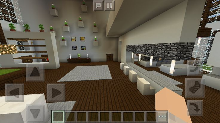 Modern House Family Room Minecraft Interior Design Architecture Houses Minecraft Interior Design Minecraft Modern Minecraft House Designs