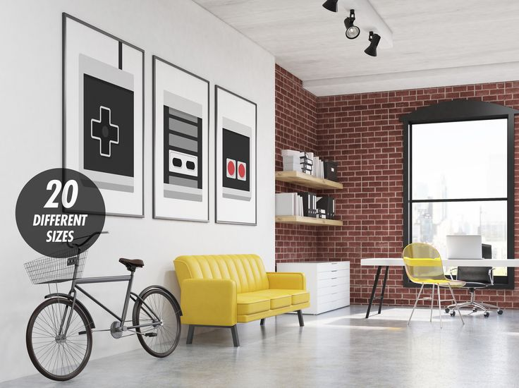 Gamer Room Decor | Game Room Sign Video Game Decor Gaming Poster | Kids Room Boy's Room Decor NES Nintendo Print Geek Gift Player 1 Player 2