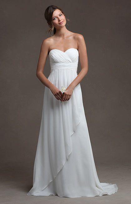 Outdoor/ Destination/Beach wedding dress, Simple wedding dress,  A-line Wedding Dresses, with Sweetheat Neckline. $168,99, via Etsy.