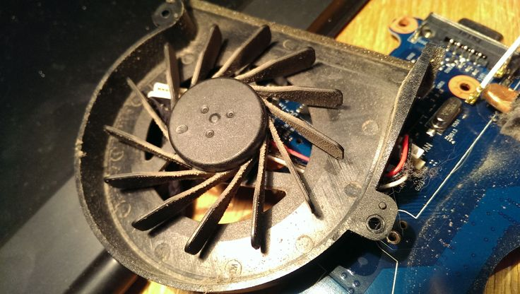 p580. Even the moving parts of the fan itself had dirt caked onto it probably from moisture that had entered it after 3 years of use.
