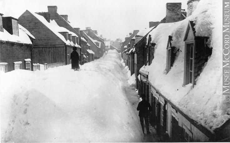 La ville de Québec en hiver, QC, vers 1894  Photographie de Louis Prudent Vallée. MP-1977.163.3.6