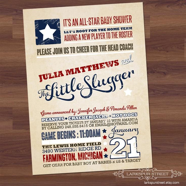 Vintage Baseball Baby Shower Invitations – diabetesmang.info