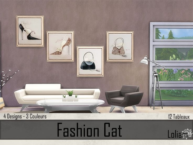 Sims 4 Tableaux Fashion Cat