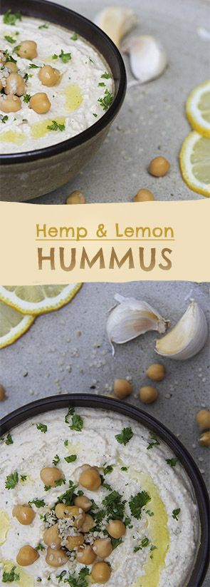 Hemp and Lemon Hummus recipe #vegan #glutenfree