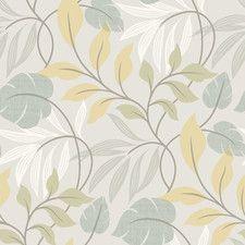 "Simple Space II Eden Modern Leaf Trail 33' x 20.5"" Floral 3D Embossed Wallpaper"