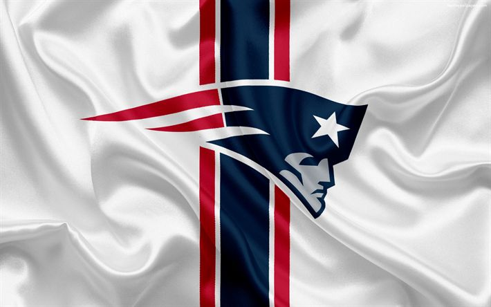 Download wallpapers New England Patriots, American football, logo, emblem, National Football League, NFL, New England, USA