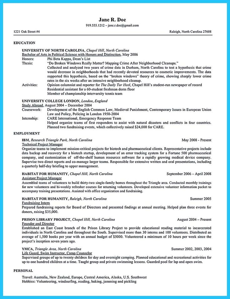 8 best work images on Pinterest Resume cover letters, Cover - hobbies resume examples