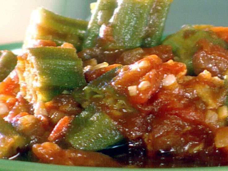 The Lady and Sons Okra and Tomatoes recipe from Paula Deen via Food Network