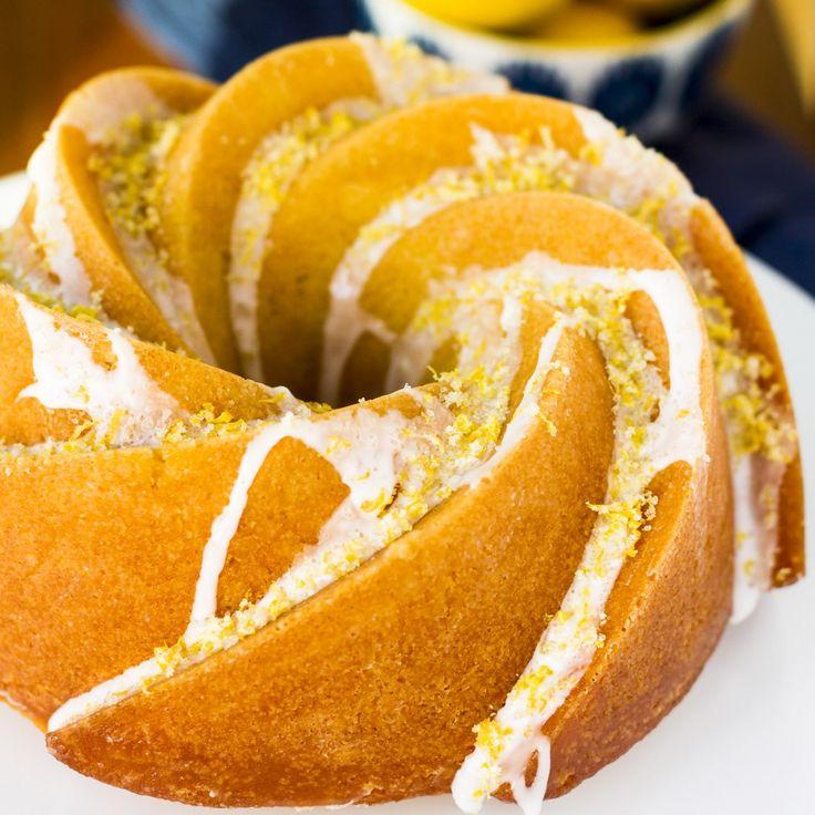 Triple Lemon Bundt Cake -- luscious lemon butter cake infused with lemon syrup, drizzled with a lemon glaze and topped off with a sprinkling of lemon sugar = HEAVEN!!! A to-die-for bundt cake recipe...   lemon bundt cake   lemon bundt cake from scratch   bundt cake recipes   bundt cake ideas   bundt cake glaze   lemon bundt cake glaze   find the recipe on unsophisticook.com #bundt #cakerecipe #bundtbakers #lemon